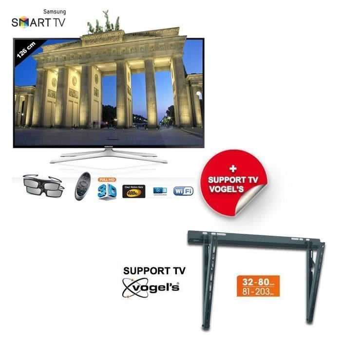 Samsung ue50h6400 smart tv 127 cm support mural - Support tv mural samsung ...