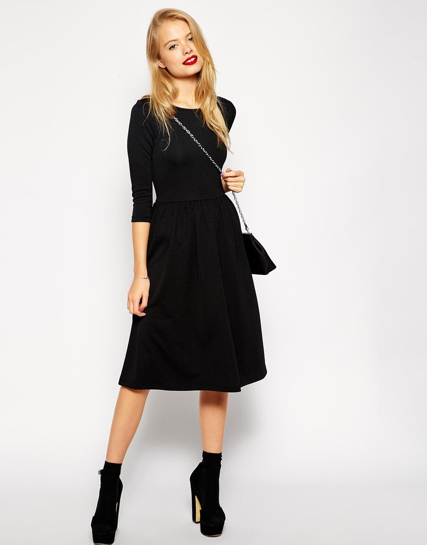 robe patineuse mi longue asos la mode des robes de france. Black Bedroom Furniture Sets. Home Design Ideas