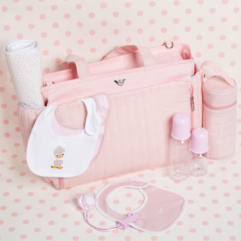 099318e23746 Armani Baby - Pale Pink 3 Piece Baby Changing Bag - Armani - Pickture