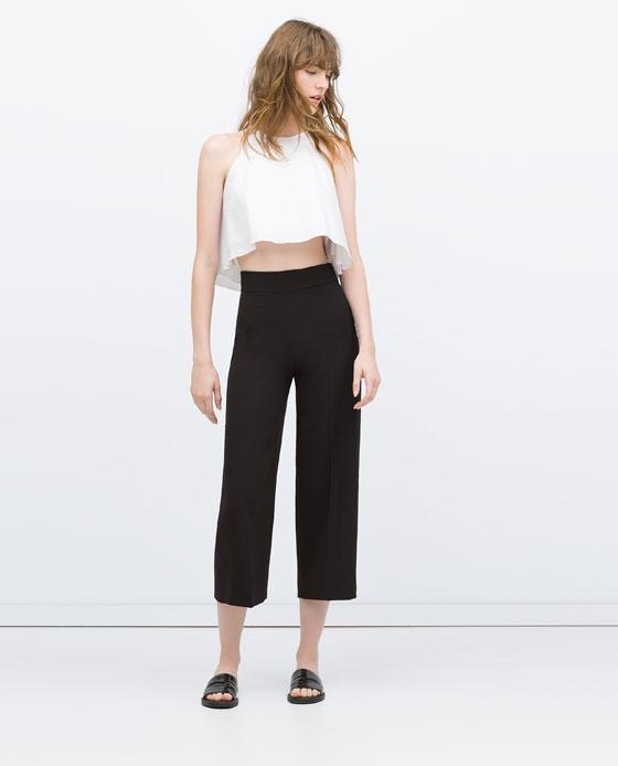 pantalon 7 8 taille haute zara pickture. Black Bedroom Furniture Sets. Home Design Ideas