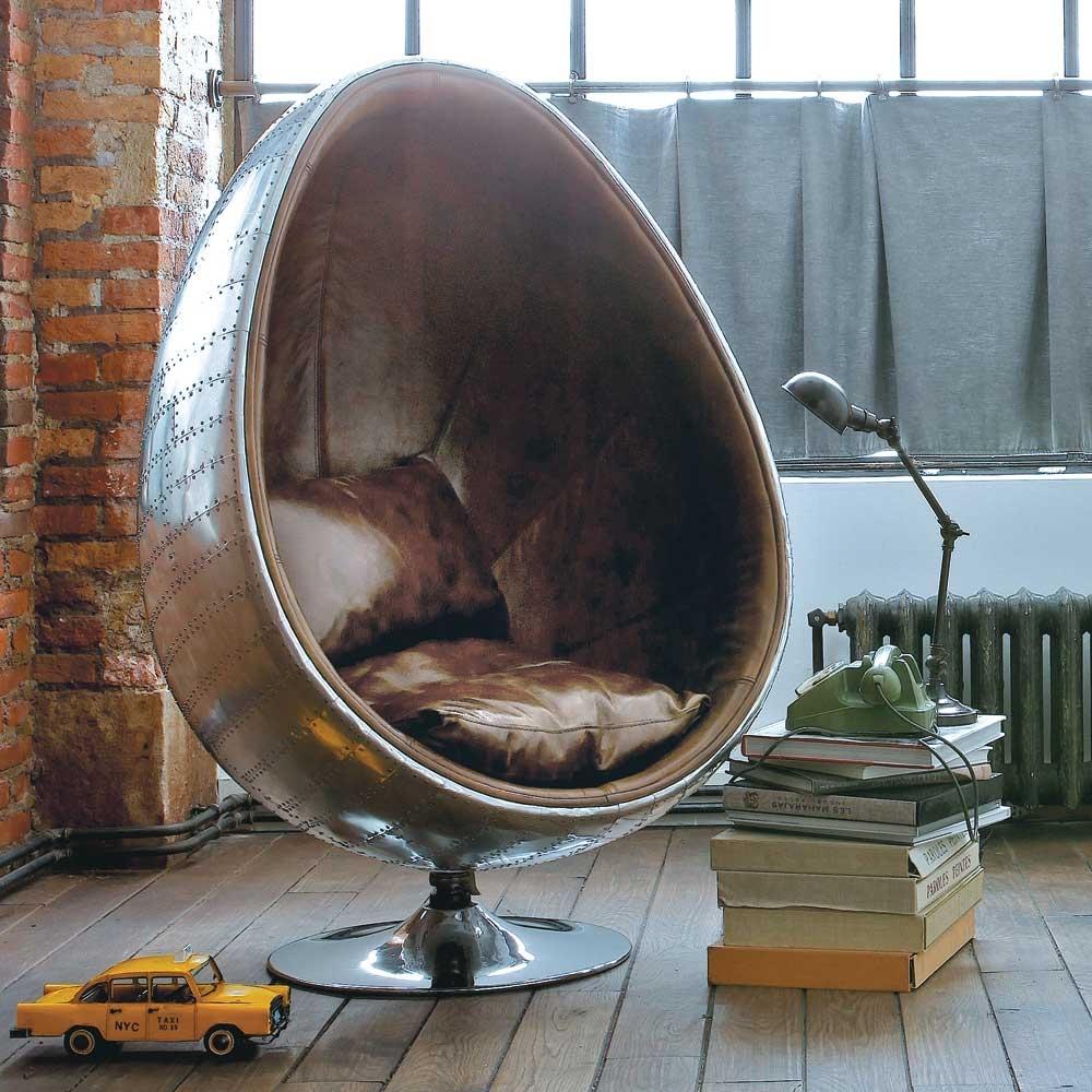 Fauteuil cuir coquille maisons du monde pickture - Maison du monde fauteuil ...
